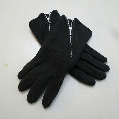 Echo Womens Large L Black RUNWAY Touch Screen Gloves I-Phone Wool Cashmere Blend
