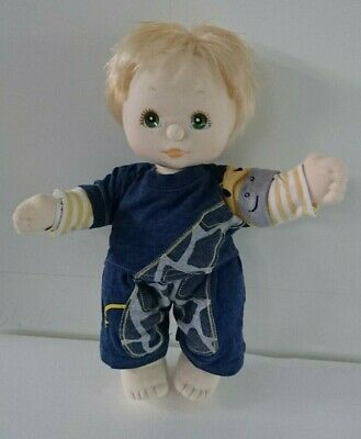 MATTEL My Child Doll, boy with blonde hair, in good condition for age