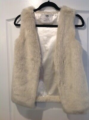 Girls Mink / Pale Pink Spring Fluffy Fury Gillet Age 11-12 Years