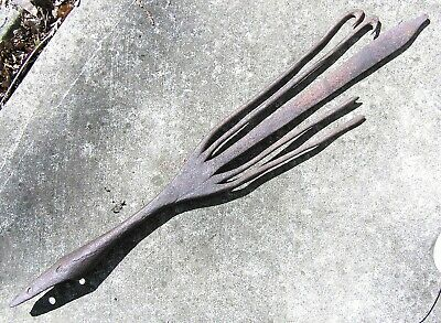 """Large 23"""" Antique Hand Forged / Forge Welded Eel Spear- As found"""
