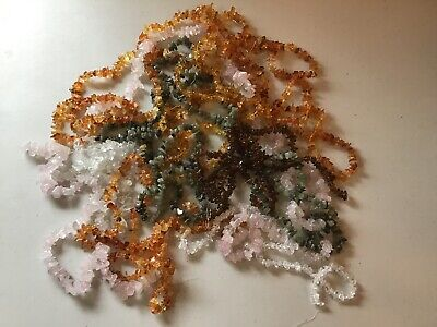 Freeform Natural Gemstone Chips Beads Over 1.8  Pounds