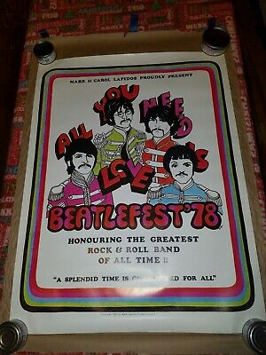 The Beatles Beatlefest 1978 poster, rolled excellent 30 x 24