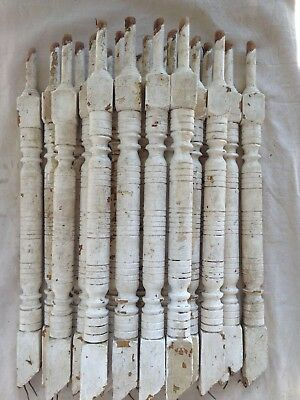 21 Vintage Wood Spindle Porch Balusters - Architectural Salvage