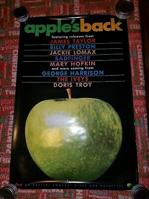 The Beatles Apple records promo poster 20 x 30 rolled 1992
