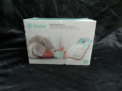 New! Owlet Smart Sock 2 Heart Rate/Oxygen Levels Baby Monitor For 0-18 Month