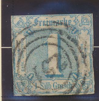 Thurn and Taxis Stamp Scott #10, Used