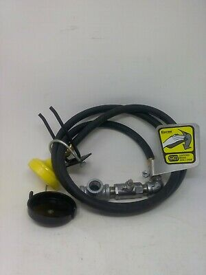 Encon Saftey Products Wall Mount Drench Hose With Push Valve