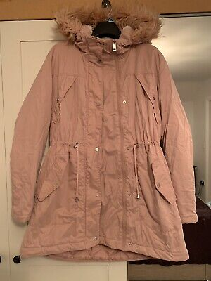George pink Parker Maternity Coat Size 10