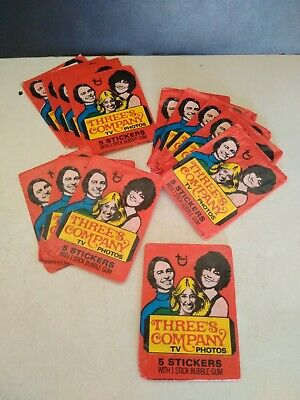 Vintage Three's Company Wax Pack Wrapper's ( 13 )
