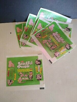 Vintage Beautiful People Ugly Stickers Wax Pack Wrapper's ( 8 )
