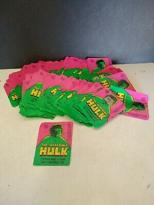 Vintage The Incredible Hulk Wax Pack Wrapper's ( 108 )
