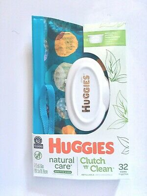HUGGIES Refillable Clutch 'n Clean, Natural Care Baby Wipes, BRAND NEW