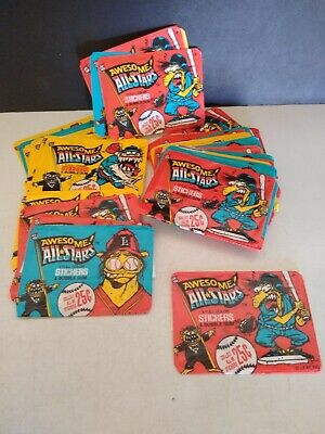 Vintage Awesome All-Stars Wax Pack Wrapper's ( 44 )