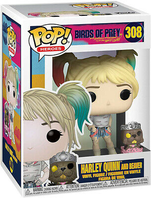 Pop DC Heroes 3.75 Inch Figure Birds Of Prey - Harley Quinn and Beaver #308