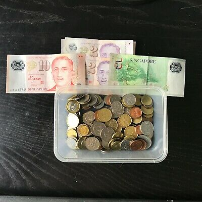 Various notes and coins
