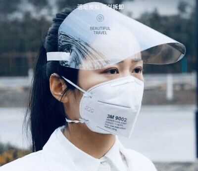 10-Pack Clear Full Face Flip Visor Dust-Proof Shield *Shipped From US*
