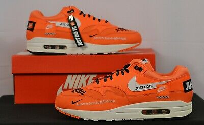 Nike Air Max 1 JDI Just Do It LX All-Over Print Orange 9 Men's 10.5 Womens Shoes