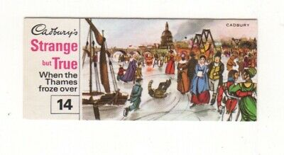 The Thames freezes over in 1814, London Trade Card - 1970