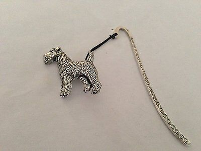 Border Terrier PP-D02   Pattern Bookmark 3D English pewter charm