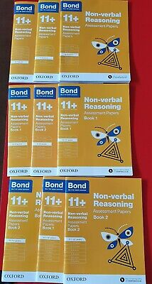 Used Like New Bond Assessment Papers Non-Verbal Reasoning Bundle of 9 books