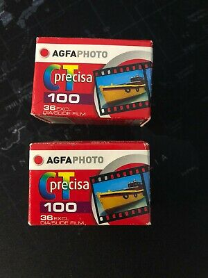 2x Agfachrome CT precisa ISO 100 - Color slide film 135 Expired - Free shipping