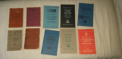 Queensland Railway Loco Operating Manuals/ By-Laws/Rule Books.10 In Total.