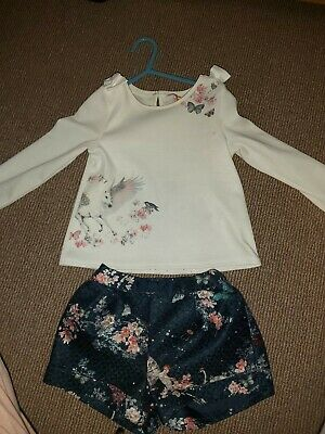 Girls Ted Baker pegasus unicorn outfit 3-4