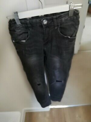 Great Pair Of Boys Zara Black Skinny Jeans, Age 10!!