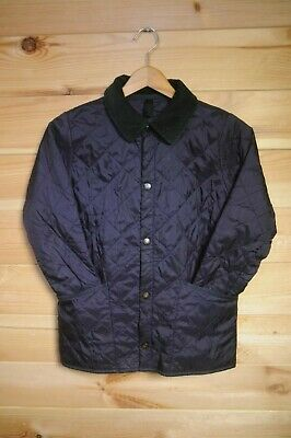 Children's Barbour Liddesdale Quilted Jacket Age 8/9 Blue Quilt