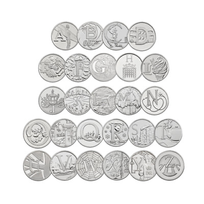 10P A - Z 10 Pence 2018 Alphabet Uncirculated Coins  (Various Designs ) Free P&P
