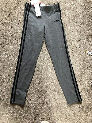 Adidas Girls Legging Age 11-12 Colour Grey