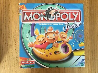 Monopoly Junior Board Game Kids Childrens Monopoly Rollercoaster 2001 Hasbro