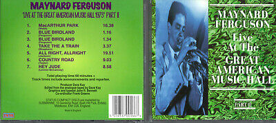 MAYNARD FERGUSON - Great American Music Hall Part II - CD