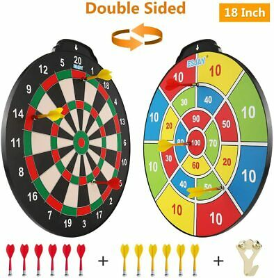Magnetic Dart Board Set Game Play Sport Kids Toys Double Sided 18 Inch Large