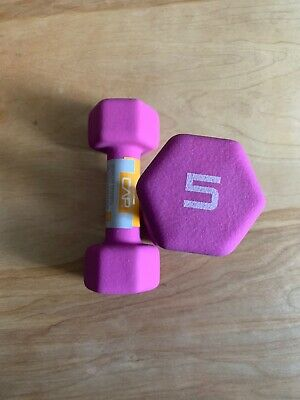 CAP Hex Neoprene 5 lb Pound Set of Two Dumbbell Weights -New- IN HAND SHIPS NOW