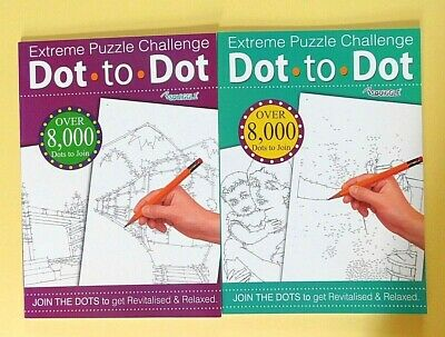 Adult Dot To Dot Books - Set Of 2 Books - Adults Colouring Book A4