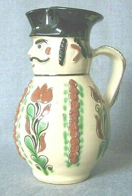 Antique Toby Jug American Redware 8 inches tall