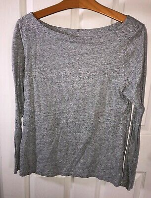 Ann Taylor LOFT Heather Grey Comfy (work from home) Long-sleeved Tee - Large EUC