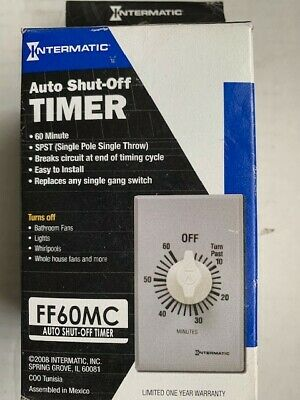 Timer Switches Intermatic FD30MAC 30-Minute Spring-Loaded In-Wall ...