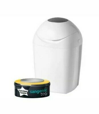 Tommee Tippee Sangenic Tec Nappy Disposal System Nappy Bin + 3 Refills