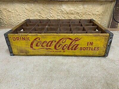 Coca Cola 24 Bottle Crate, 1966, Yellow