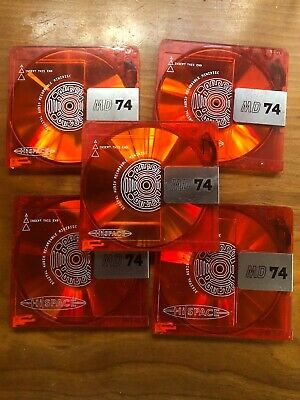 5 - HiSpace Color Collection  RED 74 Minute Minidiscs