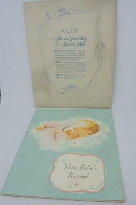 Vintage Unused 'Your Baby's Record' Book from Nestle Milk 1940/50s with Envelope