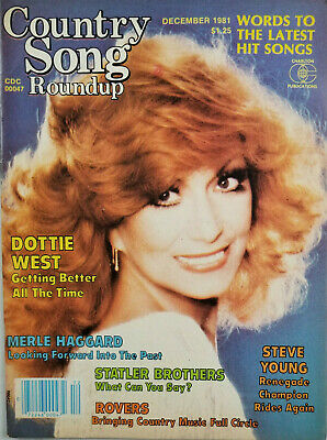 Country Song Roundup Vtg Dec 1981 Music Magazine Dottie West Steve Young NoML VG