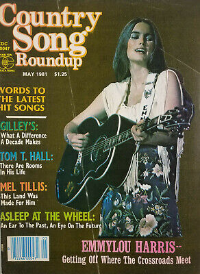 Country Song Roundup Vtg May 1981 Music Magazine Emmylou Harris Cover NoML GD