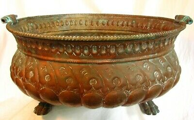 Italian Copper Wine Cooler *18Th Century* Repoussed & Claw Feet !Antique!