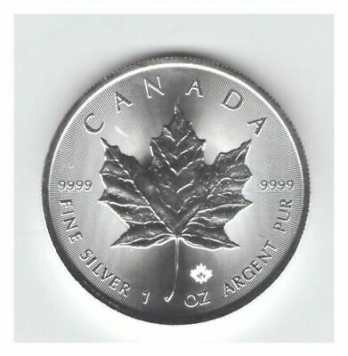 2018 CANADA 1 OZ .9999 FINE SILVER $5 MAPLE LEAF/w MAPLE LEAF PRIVY (BU)