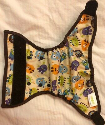 Blueberry Capri Cloth Diaper Cover Size One 6-18LB Monsters, Gently Used, Velcro
