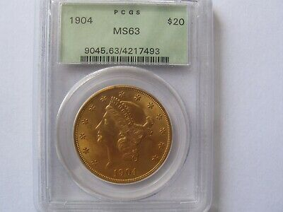 1904  $20 Liberty  Gold Double Eagle PCGS MS63 OGH