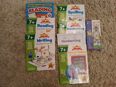 KS1 (Ages 7+) Reading, Writing, Handwriting, Spelling practice books job lot of7